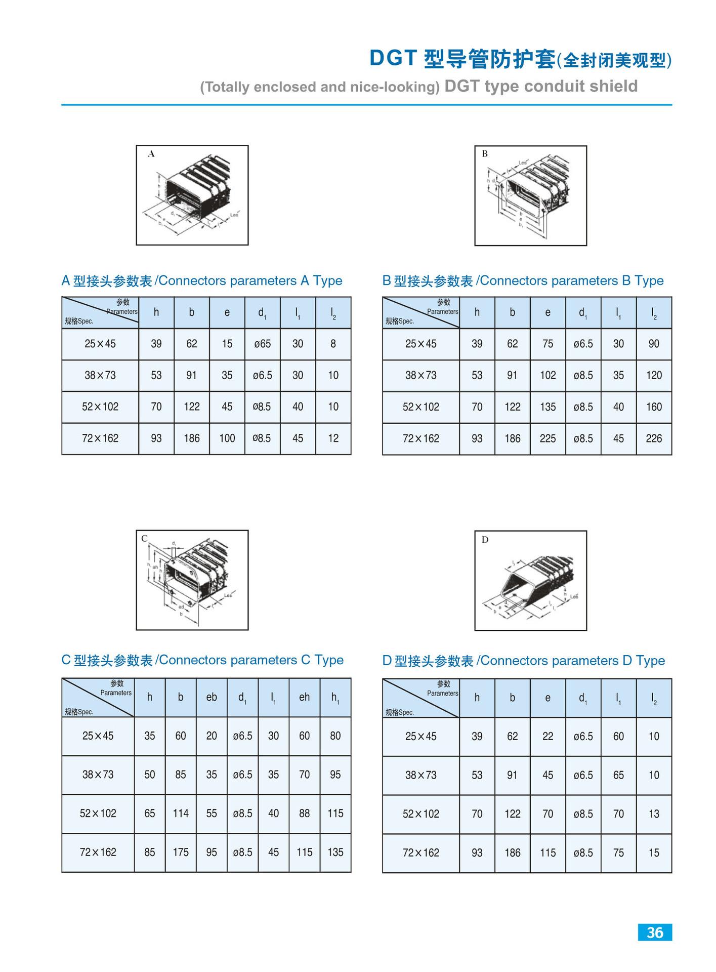 厂家直销大量供应导管防护罩 穿线导管防护套 低噪音DGT型导管保护套示例图2