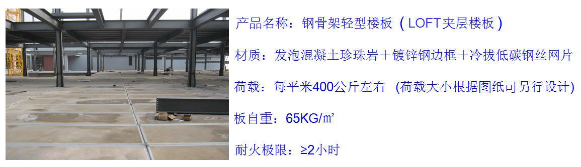 河北石家莊loft夾層樓板 LOFT公寓鋼結構用樓板 鋼骨架輕型板 輕型隔層樓板 輕質夾層板 超薄loft板 超薄樓板示例圖2