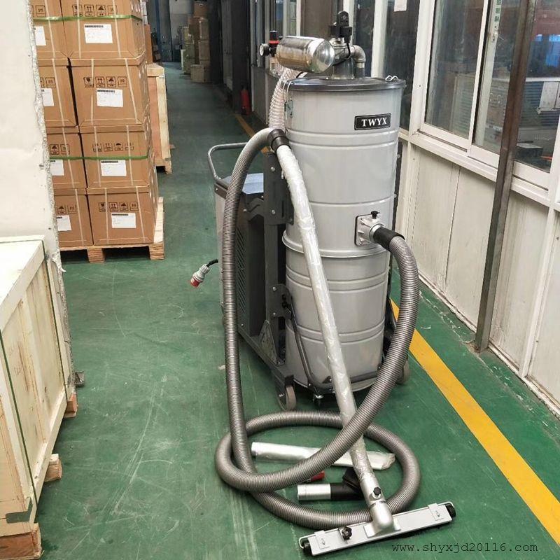 青海工业吸尘器 车间大功率移动手推式吸尘器 大容量100L工业吸尘器示例图1