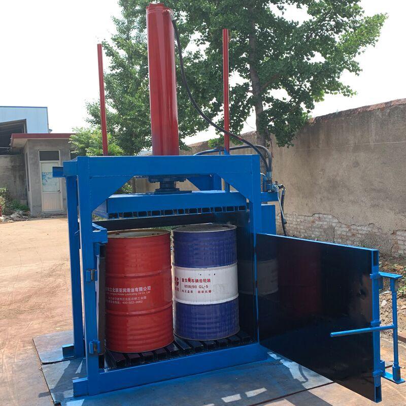 废纸专用液压打包机 60吨油漆桶压扁机厂家 200L油漆桶压扁机示例图10