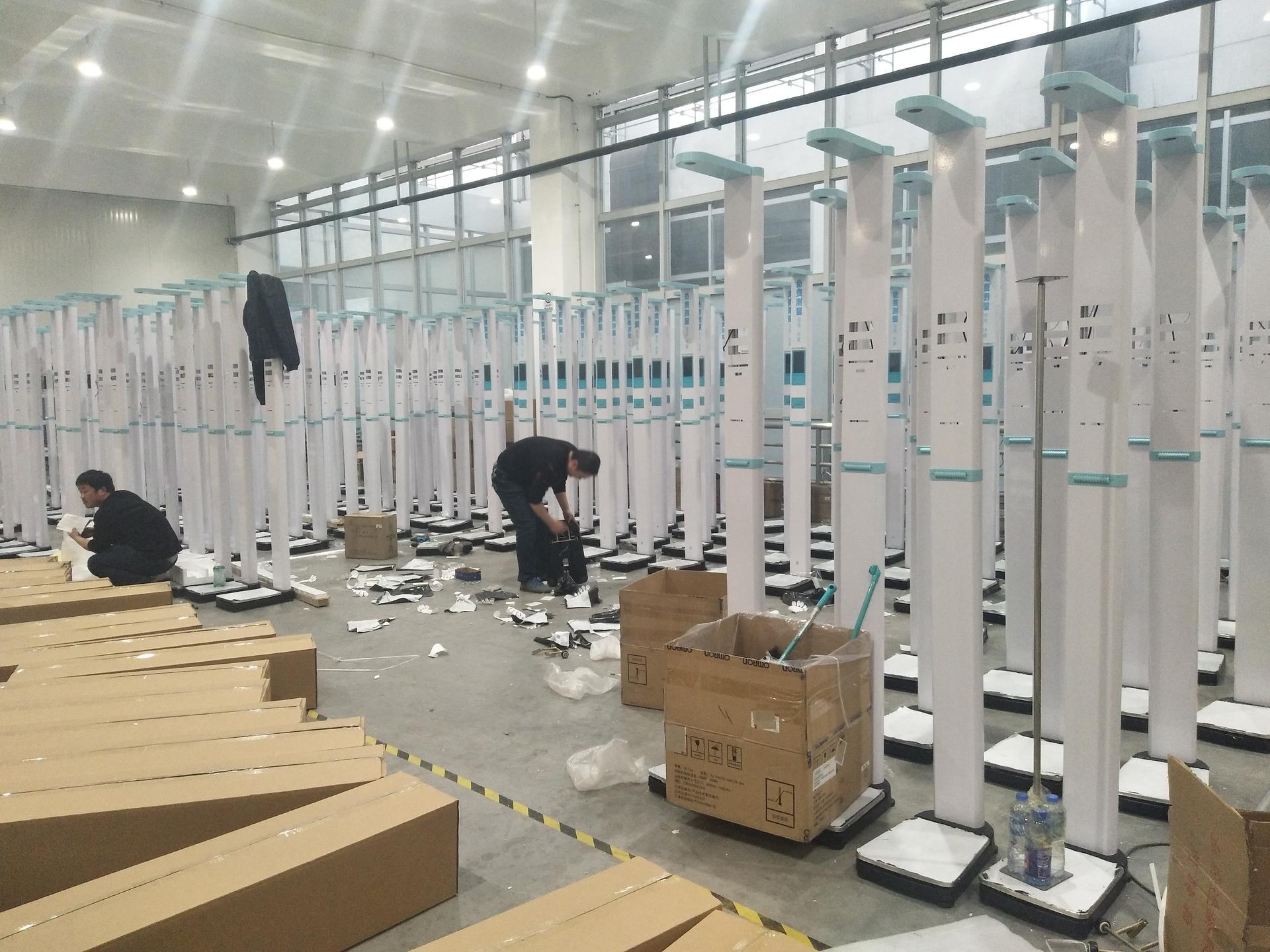 人体身高体重测量仪 超声波身高体重称 郑州上禾智能互联网身高体重测量仪 超声波身高体重体脂测量一体机上禾SH-900G示例图3
