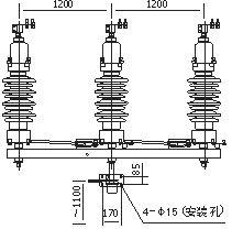 四川35KV户外柱上高压隔离开关GW4-40.5示例图4