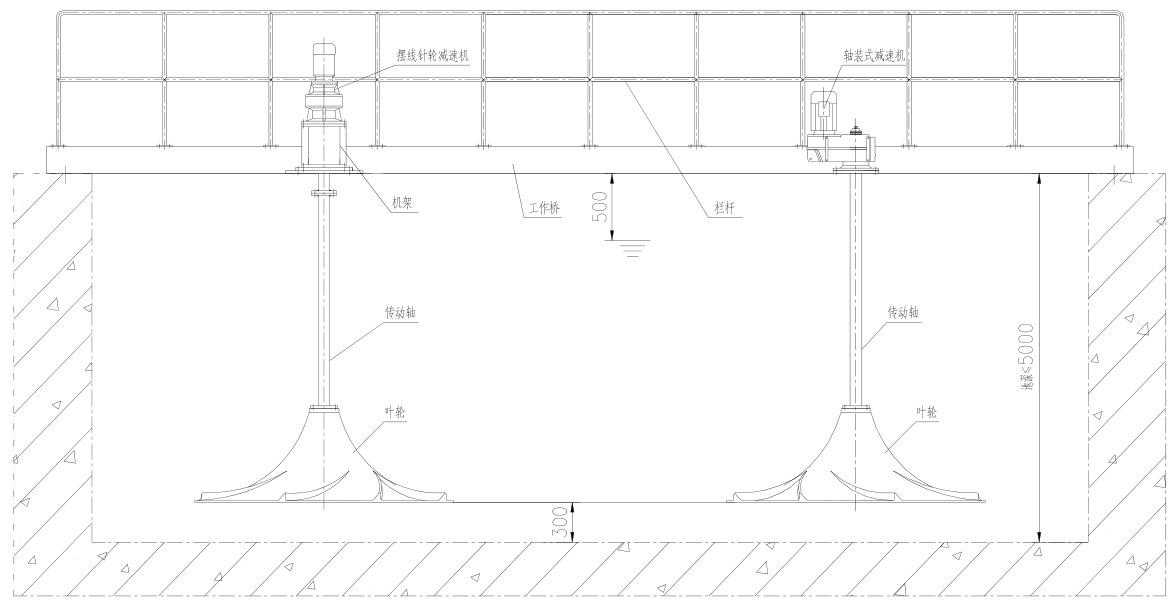 直径500双曲面搅拌机 桨式搅拌机 多曲面搅拌机示例图3