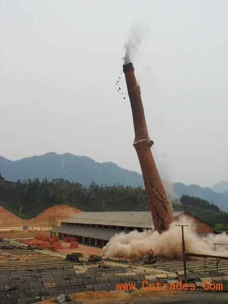 自贡市砖烟囱专业人工拆除,专业人工拆除砖烟囱示例图10