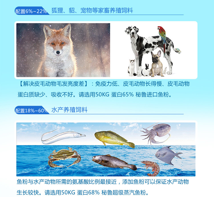 秘鲁鱼粉价格 进口鱼粉 蛋白65蒸汽干燥鱼粉 HAYDUK 狐狸貂猪饲料厂家示例图5