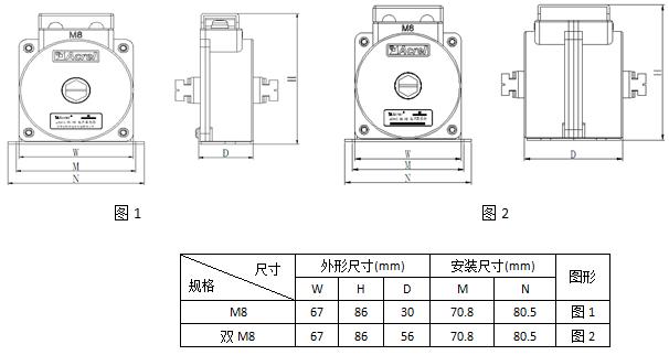 安科瑞,测量型电流互感器,AKH-0.66-40I,额定电流比10-75/5A示例图20