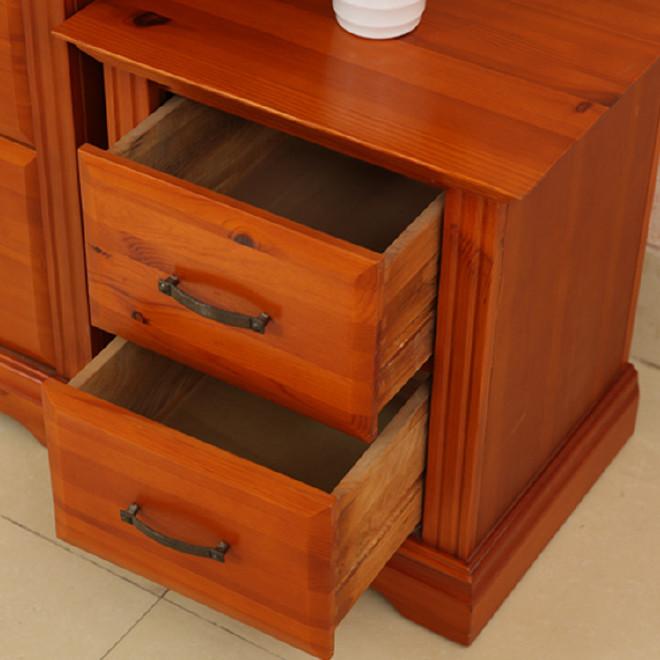 办公室实木整装抽屉式收纳柜子二 四 六 层组合储物杂物柜松木柜