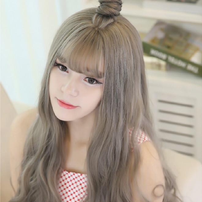 【发型半头套玉米短发烫长卷假发蓬松熨斗半烫发器可以当长发吗