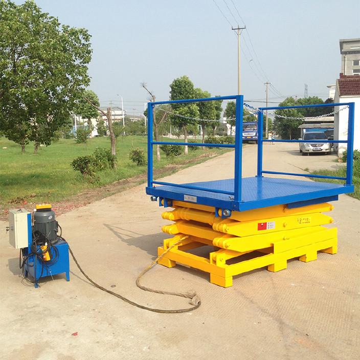 厂家供应 导轨式液压升降机电动升降台 固定式小型升降货梯平台图片