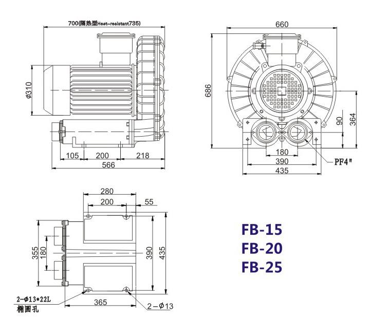 哈尔滨油气输送防爆高压风机 FB-25油气输送防爆高压风机 厂家直销防爆风机示例图19