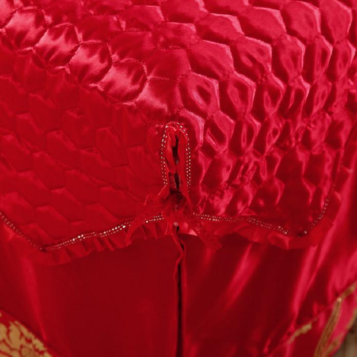 高档 美容床罩四件套七件套 大红色按摩床罩熏蒸床 通用款可订做示例图6