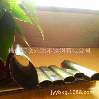 不锈钢管-304材质椭圆形,截面不锈钢椭圆管, 椭圆不锈钢装饰管