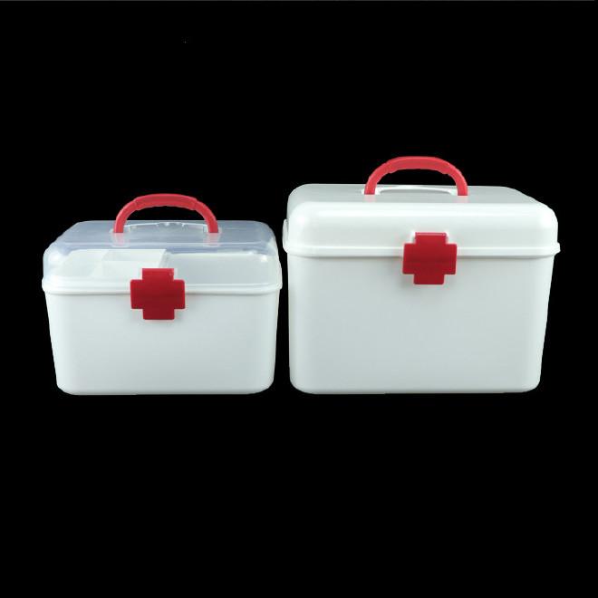 厂家直销塑料药箱 家用药箱 药品收纳箱手提箱药房赠品扶贫保健箱示例图12