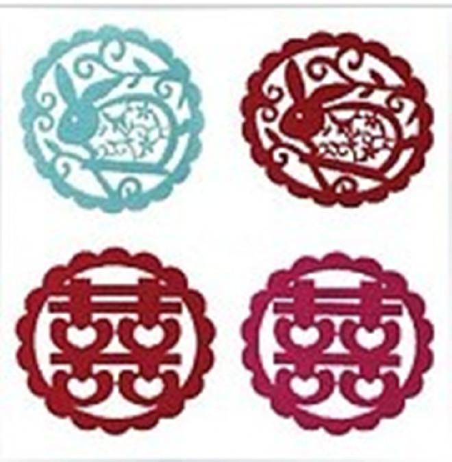 供应毛毡杯垫彩色隔热垫 吸水防滑餐垫镂空杯垫 颜色图案可定制示例图1