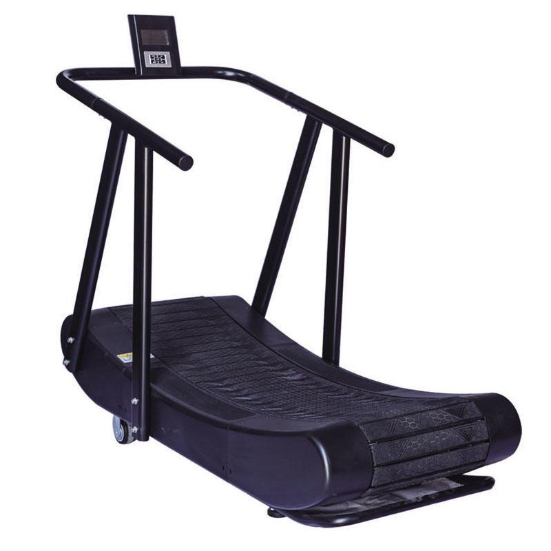 機械跑步機,無動力跑步機,商用履帶式跑步機,有氧健身器材,弧形非電動健身器械
