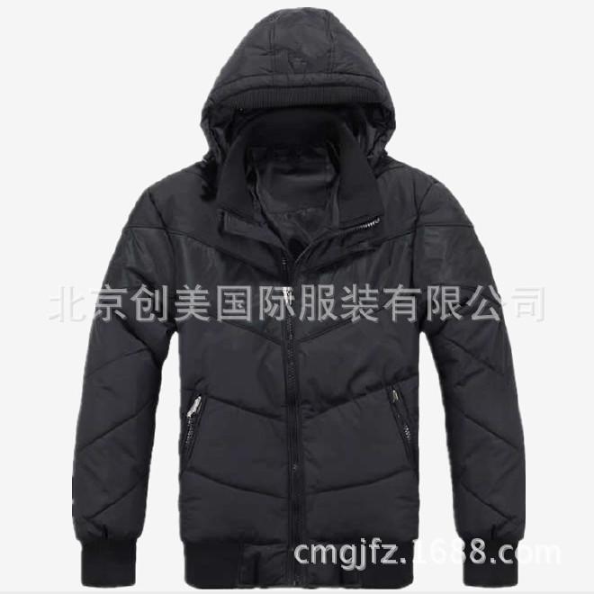 欧美太空棉服生产北京棉服生产厂家长袖修身版棉服批量生产图片