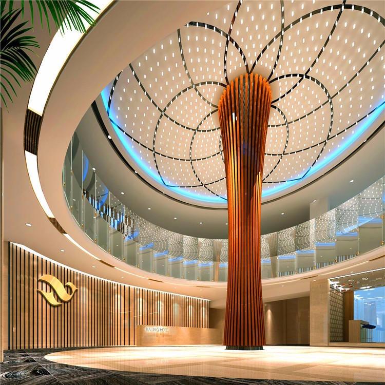 富腾厂家定制 ,大堂会议室吊顶 ,室内吊顶天花冲孔造型铝单板 ,室外幕墙