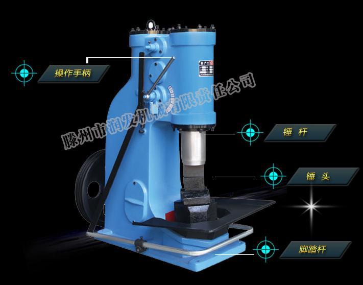 打铁机器分体式空气锤25公斤 两相电也可使用 可视频看货示例图1