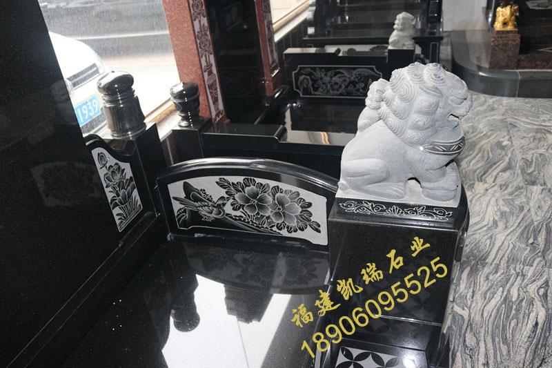 惠安墓碑厂家直销山西黑大理石家族碑厂家批发可定做示例图7
