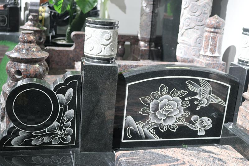 定制墓碑豪华碑山西黑墓碑艺术墓碑陵园碑广东墓碑厂家直销示例图5