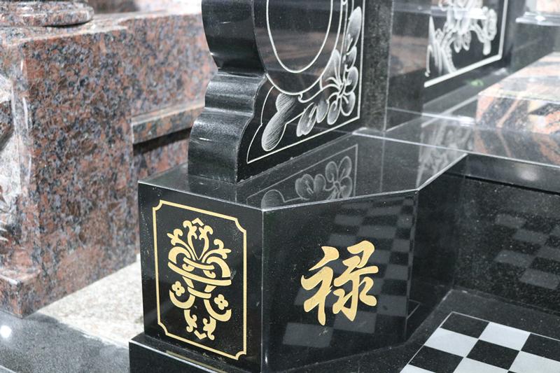 定制墓碑豪华碑山西黑墓碑艺术墓碑陵园碑广东墓碑厂家直销示例图7