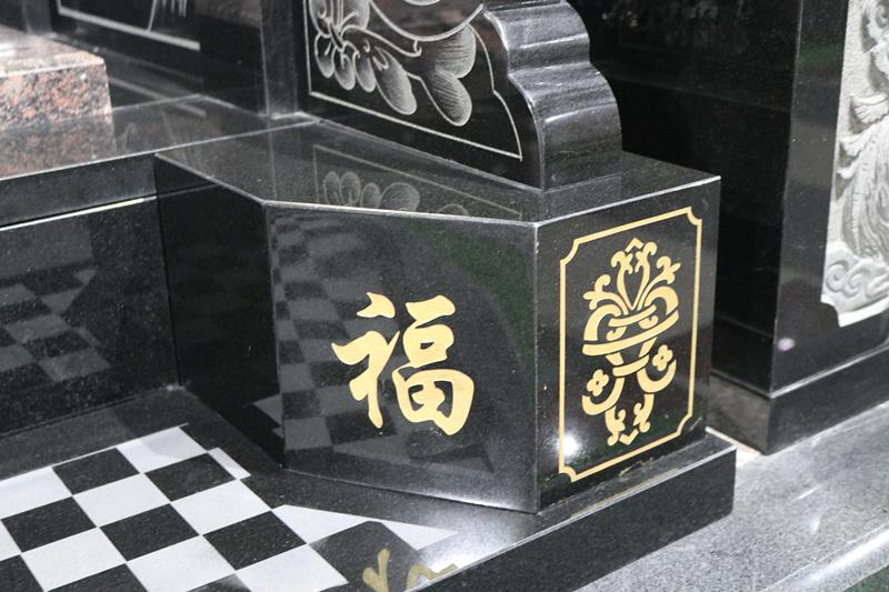 定制墓碑豪华碑山西黑墓碑艺术墓碑陵园碑广东墓碑厂家直销示例图8