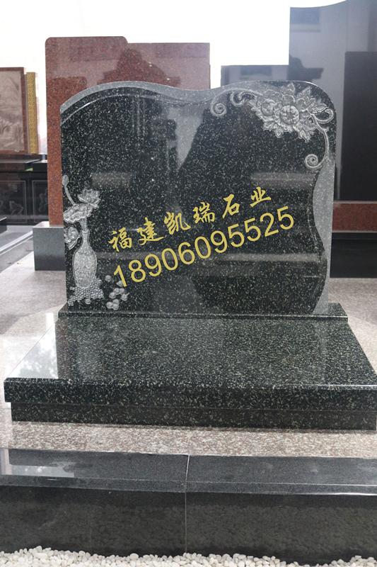湖南墓碑厂家直销公墓艺术墓碑 印度绿艺术墓碑 豪华墓碑可定制示例图1