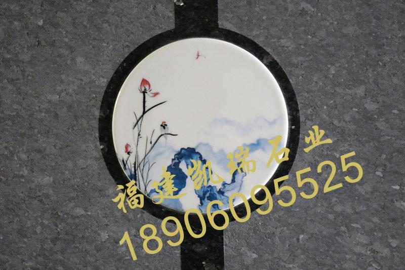 云南墓碑厂家直销小型艺术墓碑 瓷画艺术墓碑 节地生态墓碑示例图3