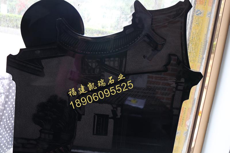 墓碑厂家直销山西黑艺术碑 个性化艺术碑定制 墓碑加工厂直接批发销售示例图3