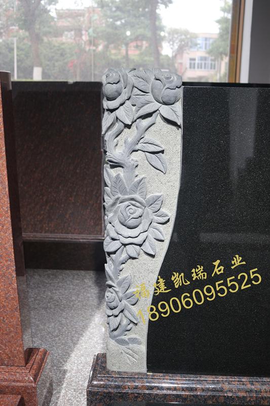 凯瑞墓碑厂家直销山西黑墓碑 艺术墓碑个性化定制 量大价格从优示例图2