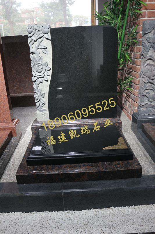 凯瑞墓碑厂家直销山西黑墓碑 艺术墓碑个性化定制 量大价格从优示例图4