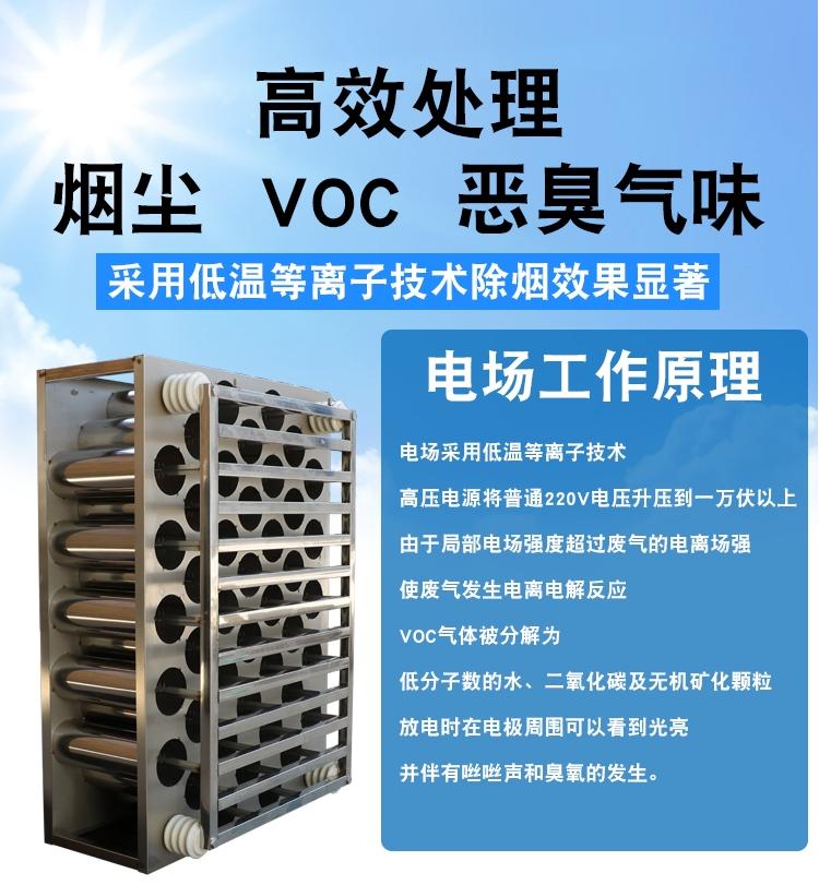 高压静电低温等离子 工业除油烟油雾烟雾净化器废气环保设备示例图1