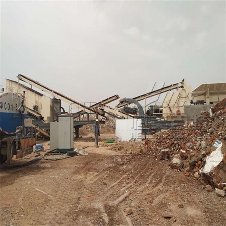 矿山移动破碎站 山东移动碎石机厂家 建筑垃圾破碎机 移动碎石机示例图3