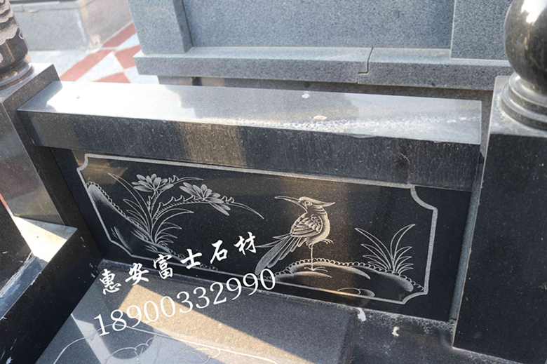 福建富士石材 福建惠安墓碑厂直销山西黑墓碑 公墓爆款墓碑批发示例图8