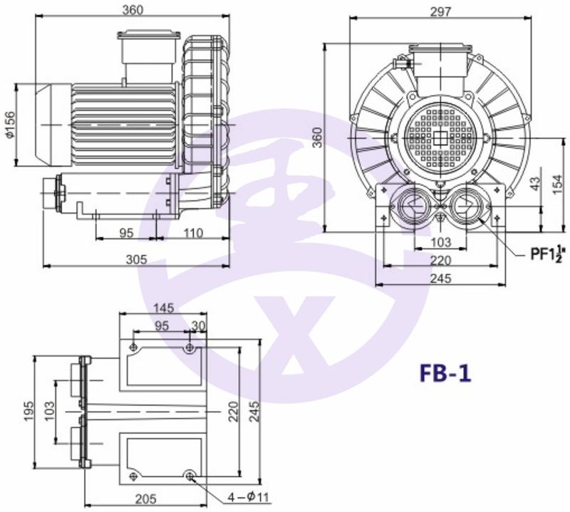 直銷旋渦防爆高壓風機 RB環形高壓鼓風機  耐高溫高壓風機 旋渦防爆風機示例圖6