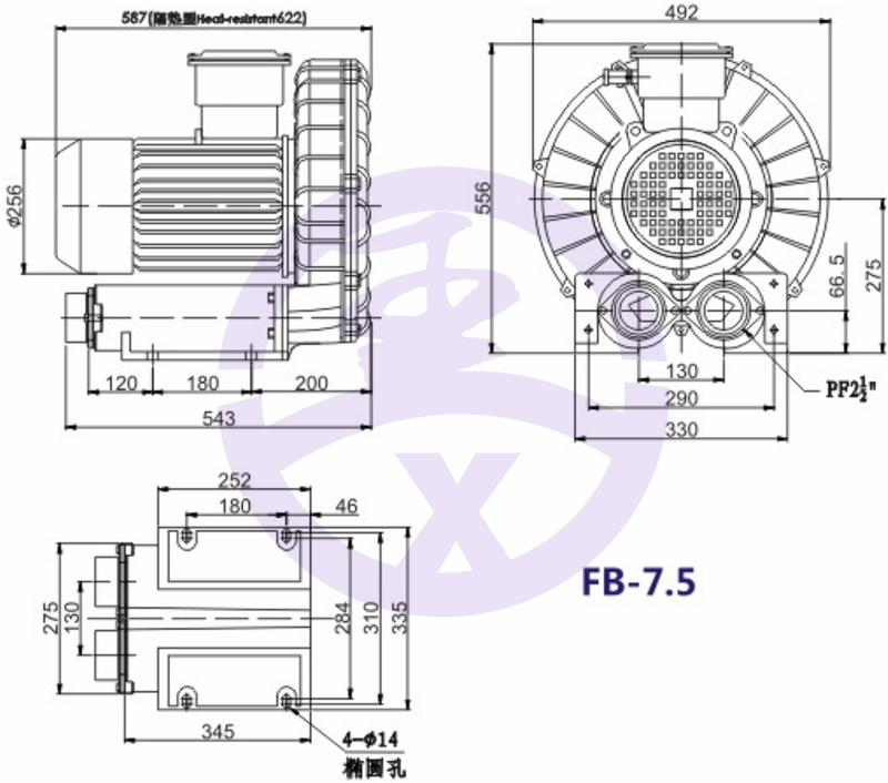 直銷旋渦防爆高壓風機 RB環形高壓鼓風機  耐高溫高壓風機 旋渦防爆風機示例圖10