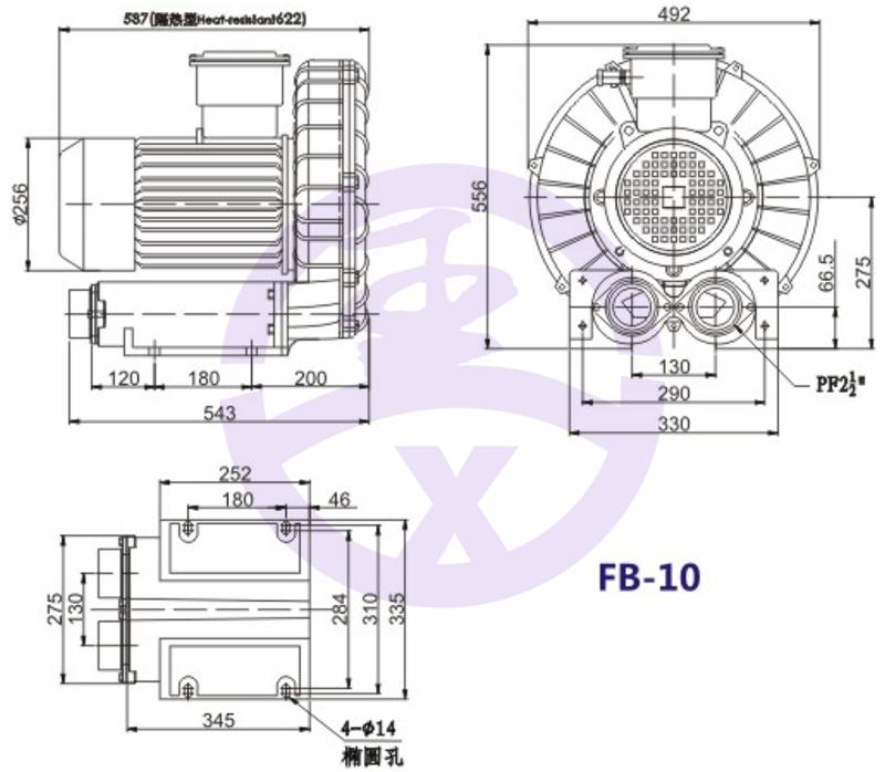 直銷旋渦防爆高壓風機 RB環形高壓鼓風機  耐高溫高壓風機 旋渦防爆風機示例圖11