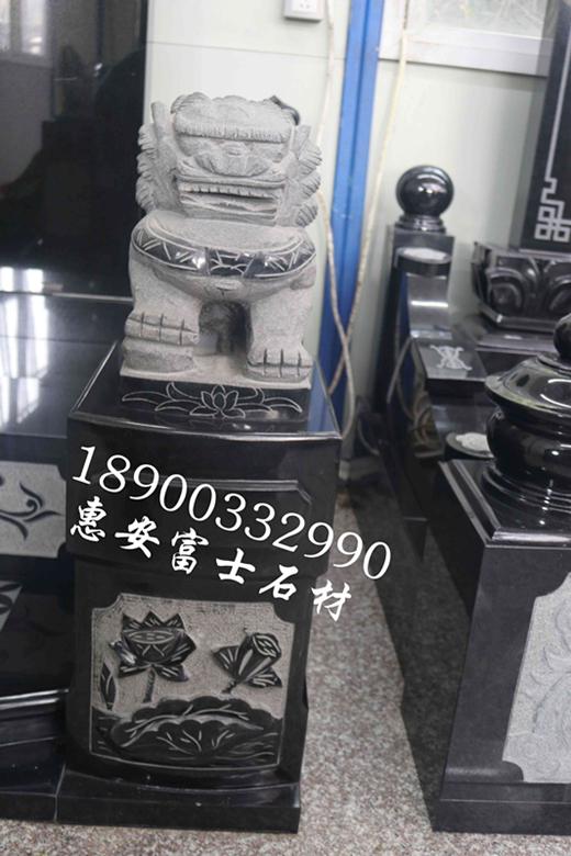 富士石材福建墓碑加工厂FS-082豪华型传统墓碑定制,墓碑厂家直销价格实惠示例图7
