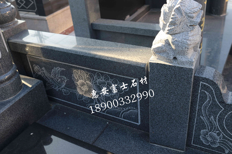 墓碑加工厂定制个性化传统墓碑艺术墓碑豪华型夫妻合葬墓碑示例图4