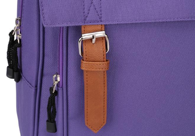 2016新款时尚韩版学院风带盖双肩学生书包 纯色休闲旅游包批发示例图30