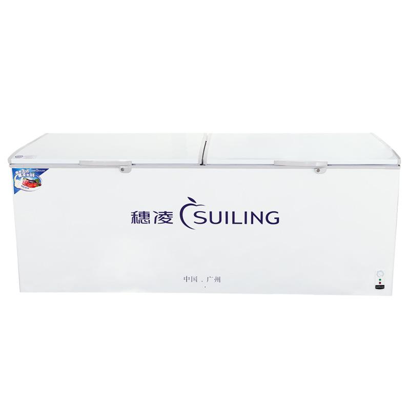 穗凌BD-1580T单温冷柜商用超市柜冰柜冷冻冷藏卧式豪华冰柜大容量
