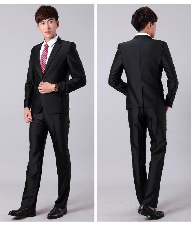 西裝男西服套裝春秋商務男士西裝上班職業裝工作服西服男裝西裝