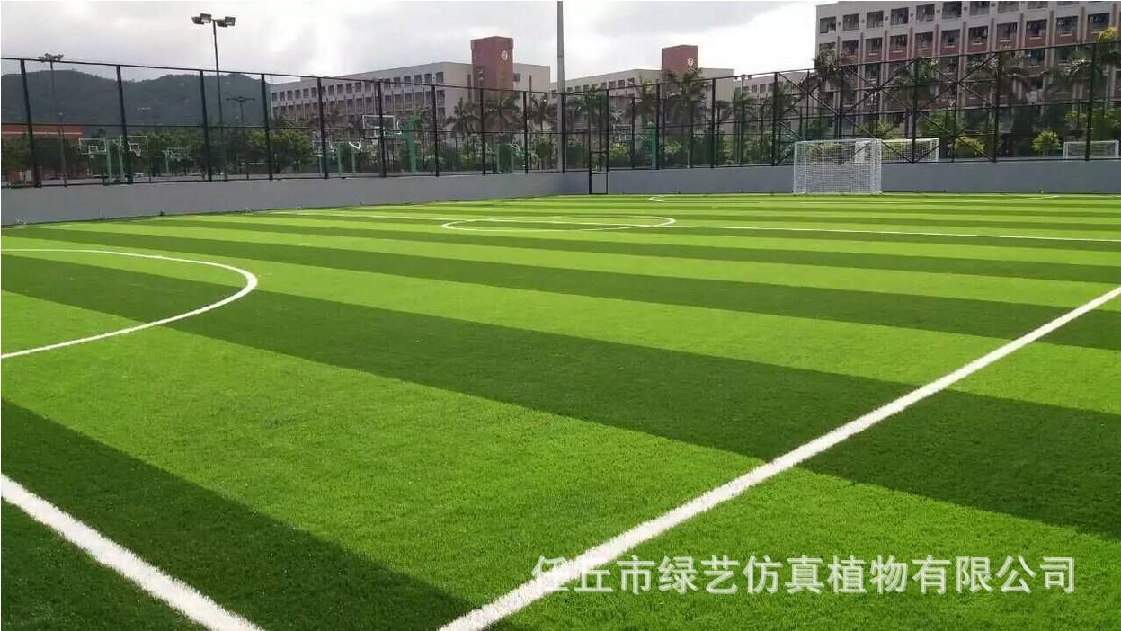 供應幼兒園專用加密仿真草坪 足球場草坪 樓頂綠化草坪示例圖11