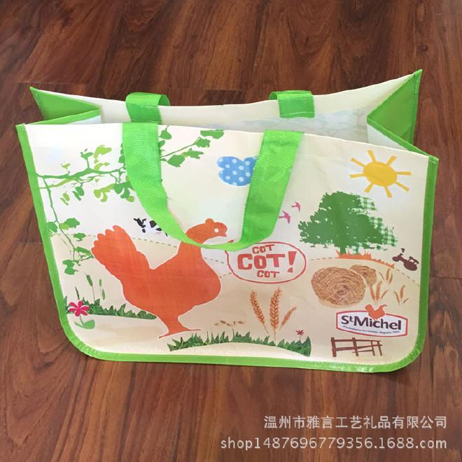 厂家定做无纺布袋子覆膜手提袋环保购物袋编织手提袋无纺布袋图片