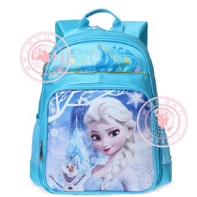 批发迪士尼FP8012冰雪奇缘儿童背包小学生书包女生双肩包1-3年级