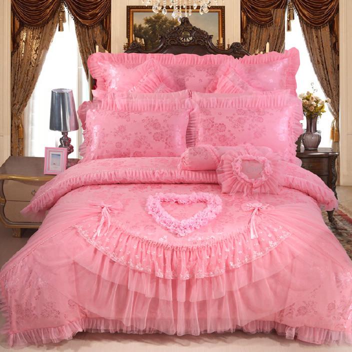 婚慶系列四六八九十件套純棉全棉床上用品套件468910件套蜜樣甜心圖片