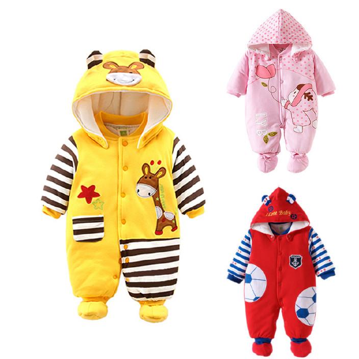 婴儿连体衣冬装长袖平角爬服婴儿纯棉服装欧美春秋冬装连身服批发图片