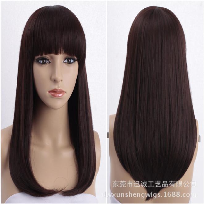 长卷半长发玉米短发烫发型发型蓬松假发半头适合斜刘海的头套