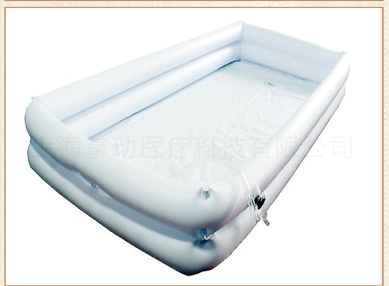 供應臥床洗浴槽 充氣式床上洗澡盆癱瘓老人清潔(床僅供展示)示例圖11