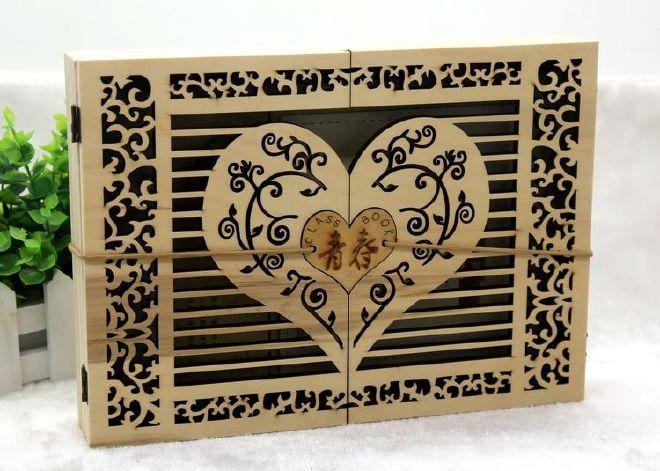 初中干部同学录镂空复古中小学生检讨纪工艺班级木盒毕业图片